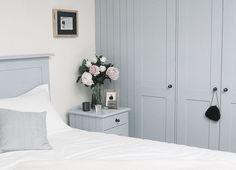 bedroom fitted wardrobes and furniture, love the colour. Loft Room, Bedroom Loft, Home Bedroom, Bedroom Decor, Bedrooms, Room Closet, Kids Bedroom, Built In Cupboards, Bedroom Cupboards