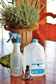 make your own Lavender water for spritzing on linens