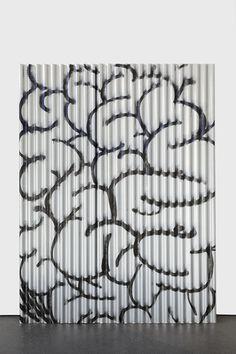 Keith Farquhar Brain #1, 2015 U.V. direct print on corrugated, galvanised steel 244 x 186 cm