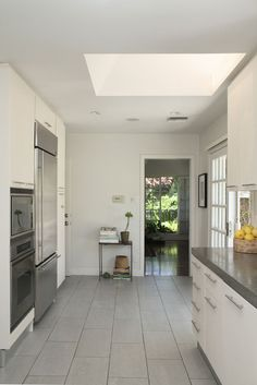 Lovely grey tile floors. #kitchen #tiles #grey