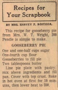 Gooseberry pie recipe . My Grandmother would send us out to pick gooseberries along the American Fork so she could make this delicious pie!