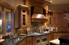 Kitchen cabinets! WOAH! I wish my kitchen looked like that.