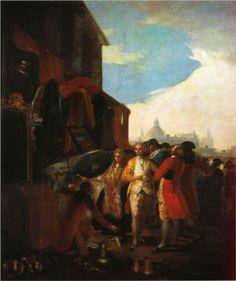 Francisco Goya (Spanish [Romanticism] The Fair at Madrid, Museo del Prado, Madrid. Spanish Painters, Spanish Artists, Francisco Goya Paintings, Francisco Jose, At Madrid, Old Master, Canvas Art Prints, Traditional Art, Art Pictures