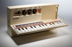 this looks like so much fun vintage casio synth keyboard tape cassette player boombox. Black Bedroom Furniture Sets. Home Design Ideas