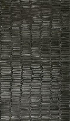 Pierre Soulages, Painting, 324 x 181 cm, acrylic on canvas, canvas) 108 x 181 cm each (Private Collection) Black And White Painting, Black White Art, Color Black, Art Blanc, Adult Art Classes, Spirited Art, Black Artwork, Arte Popular, Art Abstrait