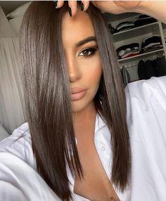 Brown Hair Balayage, Hair Highlights, Brown Hair Colors, Brunette Hair, Brunette Beauty, Hair Day, Gorgeous Hair, Dark Hair, Hair Looks