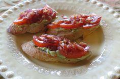 Avocado-Bacon and Tomato Canapes