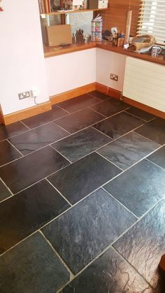 DIY: How to Refinish, Seal, and Maintain a Slate Tile Floor ...