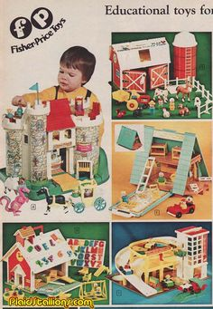Fisher Price toys from my childhood