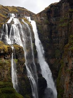 Waterfall Glymur - Iceland