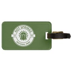 Hot Springs National Park Luggage Tag   #goat #nature #sports camping with kids, camping equipment, camping acampar, back to school, aesthetic wallpaper, y2k fashion