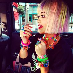 a very COLOURFUL Rita Ora! new member of The Voice