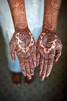 Henna design on hands