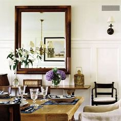 Trendy dining room t