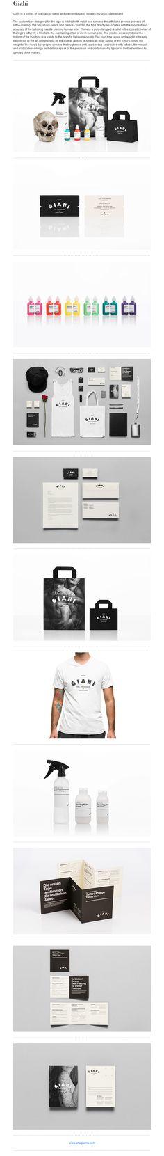 Giahi // Tattoo Switzerland | #stationary #corporate #design #corporatedesign #logo #identity #branding #marketing <<< repinned by an #advertising agency from #Hamburg / #Germany - www.BlickeDeeler.de | Follow us on www.facebook.com/BlickeDeeler