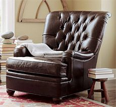Pottery Barn Russell Leather Armchair