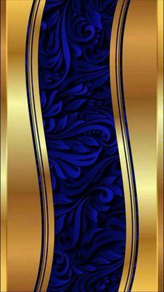Luxury Wallpaper, Gold Wallpaper, Designer Wallpaper, Pattern Wallpaper, Xperia Wallpaper, Cellphone Wallpaper, Iphone Wallpaper, Blue Wallpapers, Pretty Wallpapers