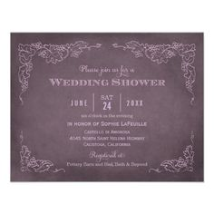 Wedding Shower Invitation   Vintage Vineyard