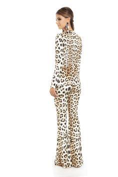 Calça Flare Veludo Estampa Onça Grande - roupas-calcas-iorane-f-calca-flare-veludo-estampa-onca-grande Iorane