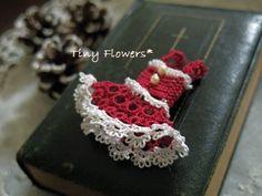 おやゆび姫のクリスマス |Tiny Flowers* にゃんことてしごと ~猫とタティングレース~