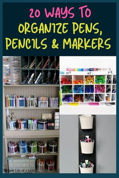 organizing pens, pencils and markers Cd Organization, Bedroom Organization Diy, Organizing, Marker Storage, Diy Storage, Storage Ideas, Door Shoe Organizer, Cube Organizer, Hanging Mason Jars