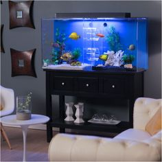 This 75 gallon 2-room acrylic aquarium comes complete with built-in filtration to keep your water quality in pristine condition: mechanical and biological filtration is included, and there is an area to add chemical filtration media.