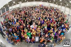 Salt Lake Comic Con breaks the Guinness World Record for 'The Largest Gathering of People Dressed as Comic Book Characters' with 1,784 participants. (Photo: Business Wire)
