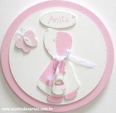 Enfeite Maternidade Camponesa Rosa