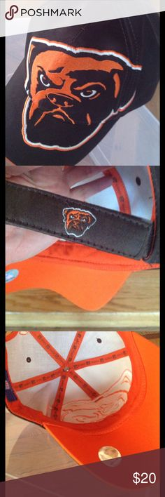 Official NFL Gear! The Browns! Pristine condition, adjustable, Velcro tab in back.  The Browns!   A fantastic cap for the Cleveland Browns' fan Who knows that a bulldog is the traditional mascot of the Browns. NFL Accessories Hats