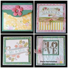 3x3 cards by Diana Veenendaal  using CTMH Brushed paper