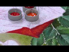 Mulher.com 05/06/2014 - Pintura Tecido Rosa Vermelha por Fatima Hespanholeto…