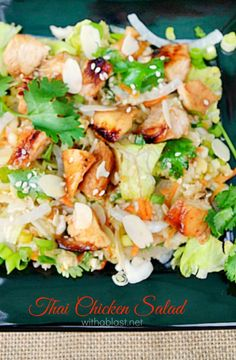 This Thai Chicken Salad is the perfect lunch or light dinner and you can do all the prepping way in advance !