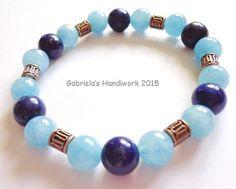 Bracelet Third Eye Chakra with Lapis Lazuli by GabrielasHandiwork