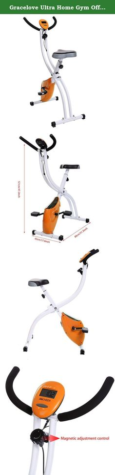 Gracelove Ultra Home Gym Office Sport Trainer Bike with hand pulse sensors with/without backrest (Orange2, without backrest). Material: Aluminum Alloy 3 colors : Orange, Green, Black Gender: Unisex adult LCD display: time, calories, speed, distance, pulse Note: Due to the difference between different monitors, the picture may not reflect the actual color of the item. We guarantee the style is the same as shown in the pictures, but not the same performance on different bodies as on the…