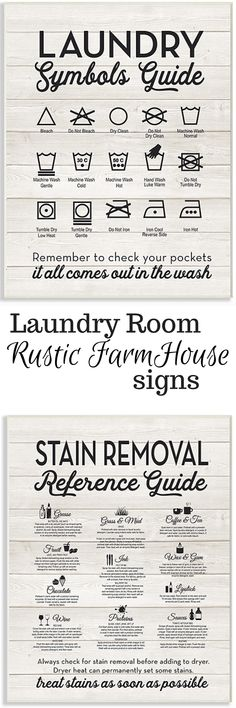 love, love love these amazing laundry room signs! Not only are they super cute, but they are actually a practical reference guide for me-someone who is still learning how to do laundry correctly! #homedecor #laundryroom #ad #pinining #walldecor