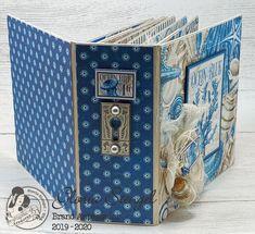 Scraps of Life: Graphic 45 Ocean Blue Mini Album Tutorial Mini Albums, Mini Scrapbook Albums, Graphic 45, Baby Mini Album, Mini Album Tutorial, Book Making, Mini Books, Hobbies And Crafts, Vintage