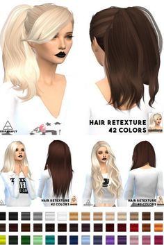 Miss Paraply: Stealthic retextures hair dump: part 1 • Sims 4 Downloads
