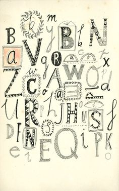 Hand-drawn typography by Kat Frank