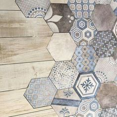 Almost like a patchwork quilt. I wonder if you could buy boxes of leftover tiles., ideas farmhouse Almost like a patchwork quilt. I wonder if you could buy boxes of leftover tiles. Bathroom Flooring, Kitchen Flooring, Leftover Tile, Buy Boxes, New Homes, Shabby Chic, Interior Design, House Styles, Home Decor