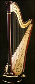 Another harp for my wish list - this is the Camac Clio concert pedal harp, which also comes in wild cherry finish