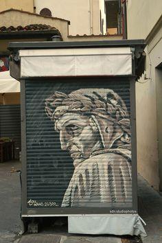Bue 2530. Omaggio a Dante Alighieri in Piazza delle Pallottole, Firenze (Toscana, Italy) - by Silvana, agosto 2014