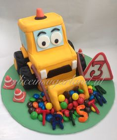 Digger Truck Cake on Cake Central                                                                                                                                                     More
