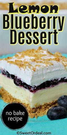 Refreshing Desserts, Cold Desserts, Lemon Desserts, Lemon Recipes, Easy Desserts, Sweet Recipes, Baking Recipes, Delicious Desserts, Cake Recipes