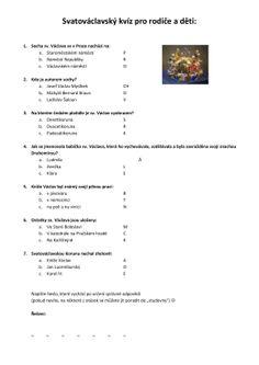 Svatováclavský kvíz pro rodiče a děti: Martini, Christmas Decorations, Pictures, Historia, Martinis, Christmas Decor, Christmas Tables, Christmas Jewelry