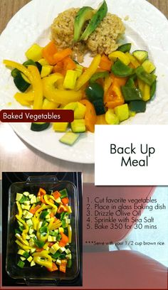 Back up meal? The meal you use when time...well...when time gets away from you. This works with any vegetables that may be in your pantry.