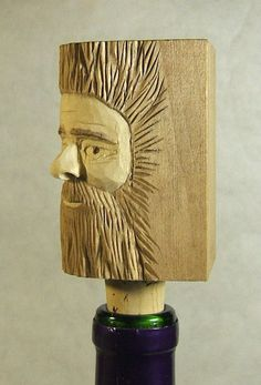Hey, I found this really awesome Etsy listing at https://www.etsy.com/listing/182802055/handmade-wood-spirit-unique-wine-bottle