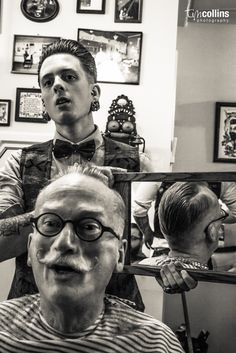 "Getting it ""Spot on"". By Tim Collins Photography. Amsterdam Barber Shop - Haarbarbaar."