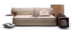 The MyWorld lounging system by Philippe Starck for Cassina makes the couch the most comfortable hot spot in the home. Plush cushions are joined by a built-in USB charger, electrical socket, and a Duracell Powermat.