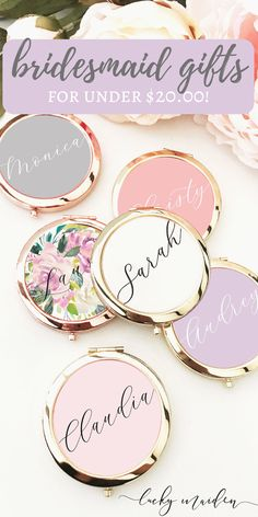 gifts box Personalized Compact Mirror with Gift Box Bridesmaid Gifts From Bride, Will You Be My Bridesmaid Gifts, Best Bridesmaid Gifts, Bridesmaid Proposal Gifts, Brides Maid Gifts, Bridesmaid Boxes, Personalized Bridesmaid Gifts, Ideas To Ask Bridesmaids, Bridal Gifts For Bride