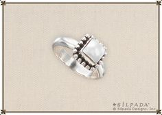 Sterling Silver and Freshwater Pearl Ring, Silpada